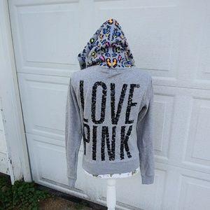 VS PINK bling zip up hoodie jacket super cute